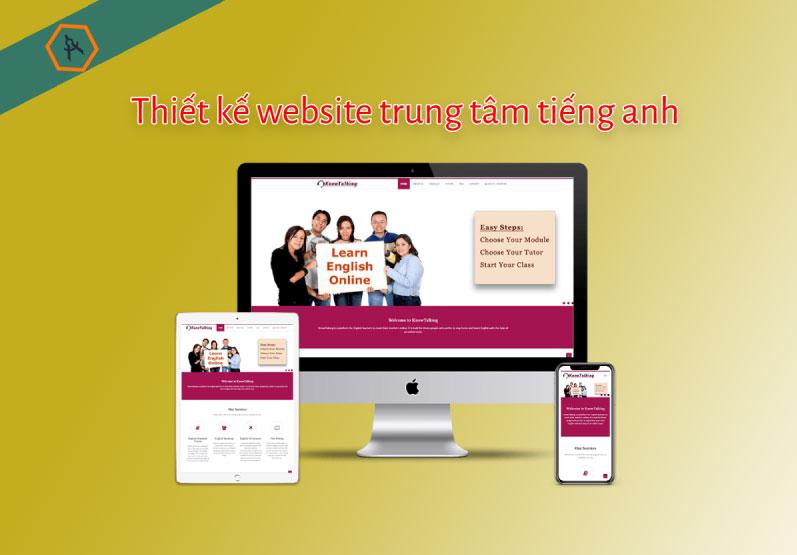 Thiết kế website giới thiệu trung tâm tiếng anh