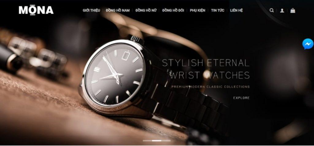 xây dựng website giới thiệu đồng hồ
