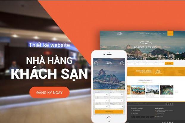 Thiết kế website nhà hàng - khách sạn.