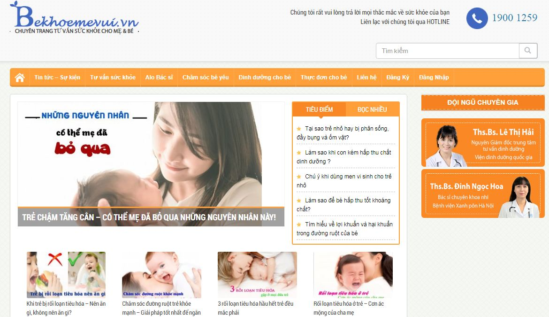 bekhoemevui - website mẹ và bé