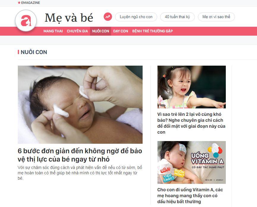 Afamily - website mẹ và bé tổng hợp