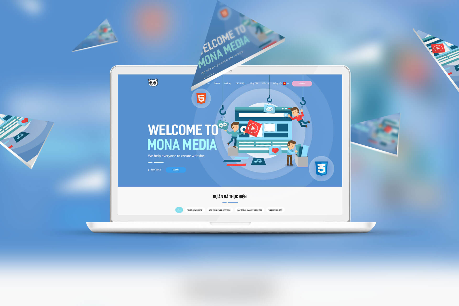 Mona Media chuyên thiết kế website học trực tuyến