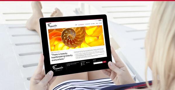 Giao diện website đẹp mắt, thu hút người xem