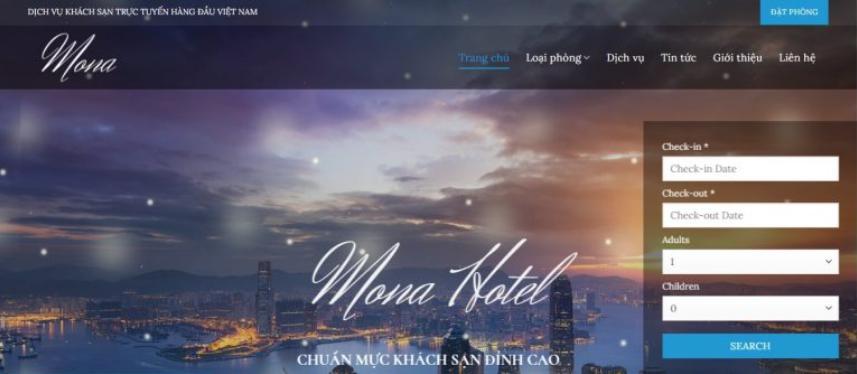 Mẫu website đặt phòng khách sạn encore
