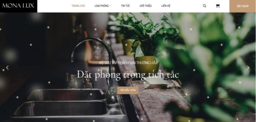 Mẫu trang web đặt hàng khách sạn lux