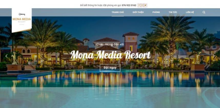 Mẫu website khách sạn Luxury hotel