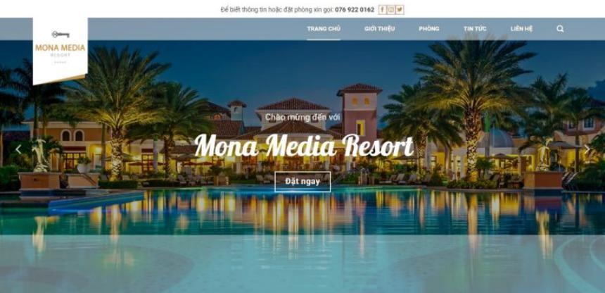 Mẫu website nghỉ dưỡng – resort giống mykonos