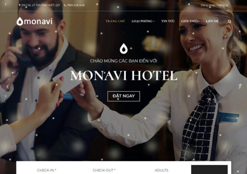 Mẫu website khách sạn nanovi