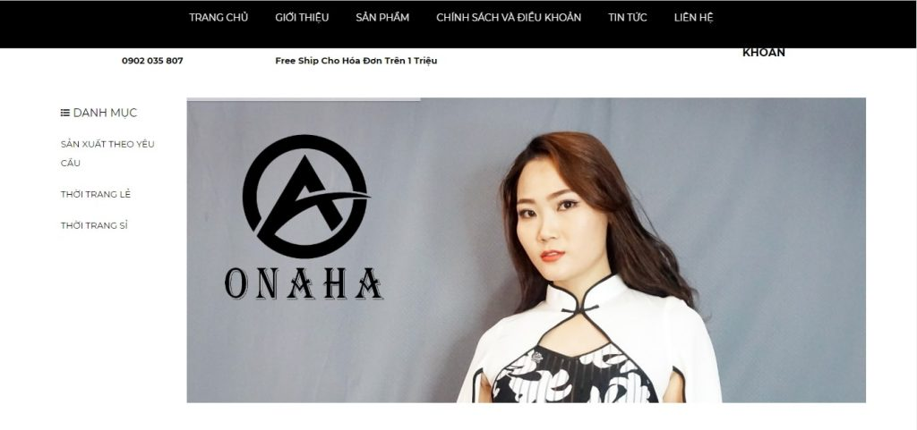 thiết kết website giới thiệu sản phẩm