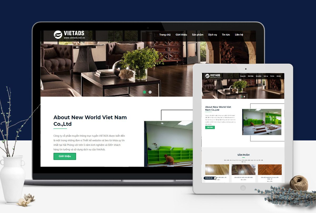 thiết kế web giới thiệu sản phẩm công ty